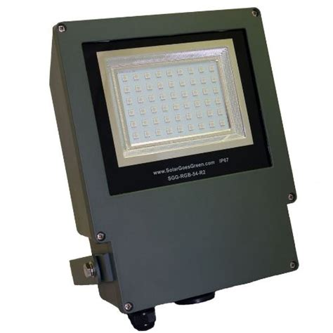 commercial grade color changing solar flood light