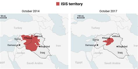 maps show  isis territory  shrunk