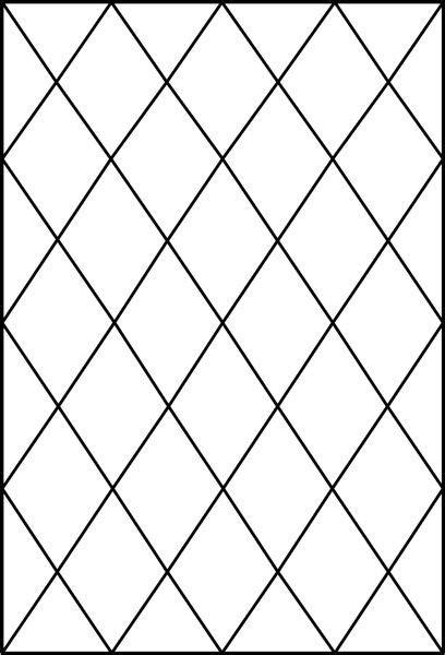 Diamond Tudor Window Pattern Decorative Window Film | For