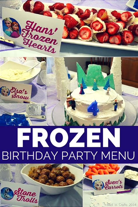 Halloween Appetizers For Adults With Pictures by Frozen Birthday Party Menu Mad In Crafts