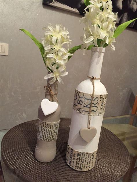 vasi e bottiglie di vetro decorare bottiglie in stile shabby chic make and