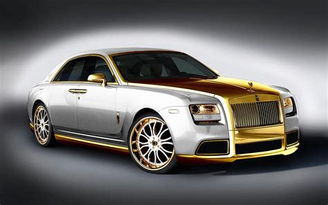 plated rolls royce have you seen this a gold plated rolls royce called the