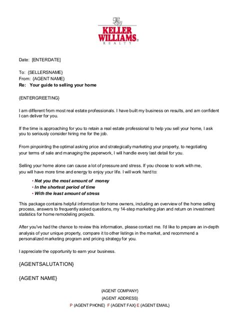 real cover letters that worked keller williams pre listing fsbo presentation
