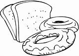 Bread Drawing Coloring Clipart Clipartmag sketch template