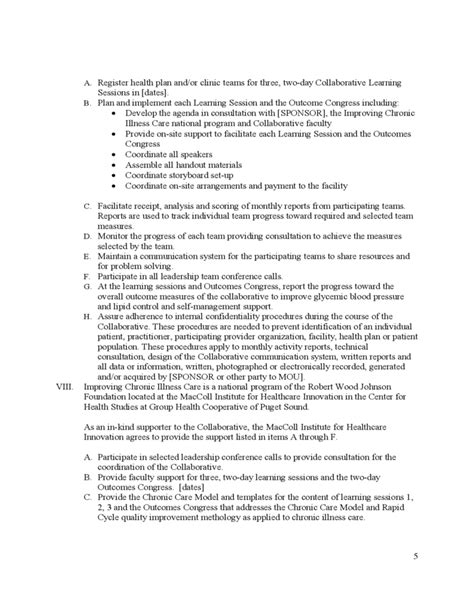 basic memorandum of understanding template basic memorandum of understanding sle free download