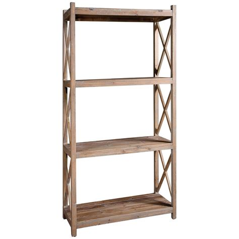 Etagere Wood by Gamble Rustic Lodge Salvaged Fir Wash Etagere