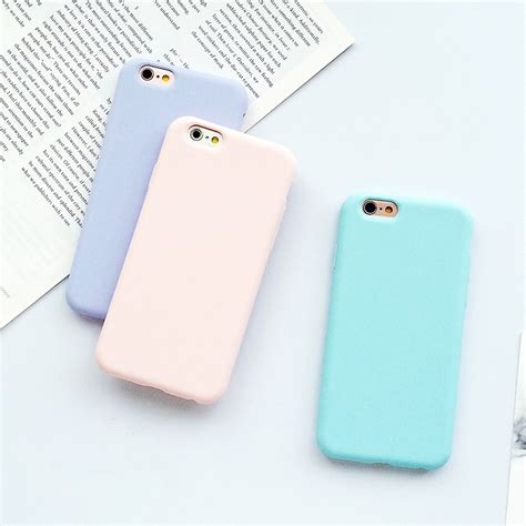 phone covers iphone 6 macarons color tpu silicone frosted matte for iphone