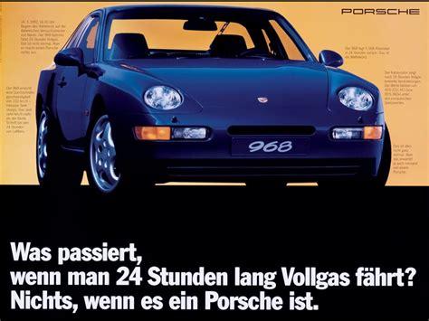 Porsche 968 Period Photos - 1992 Advertising Poster 2 ...
