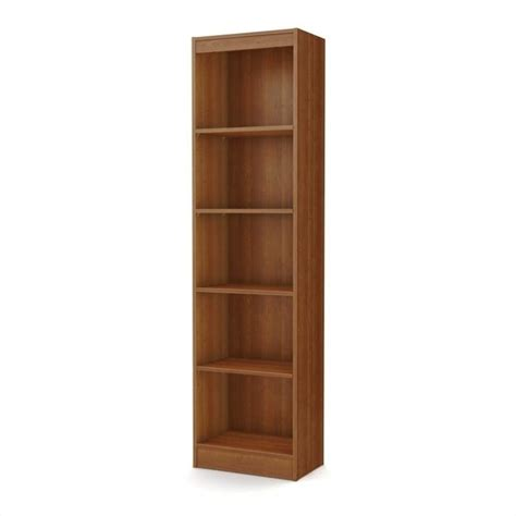south shore 5 shelf bookcase south shore axess 5 shelf narrow bookcase in cherry