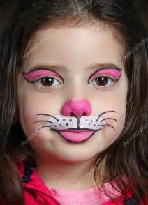 Girl Cat Face Painting