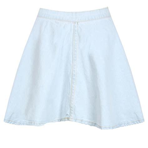 light blue jean skirt new womens light blue stone wash denim skater skirt mini