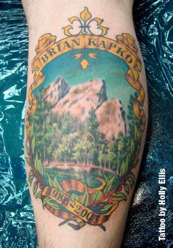 beautiful mountain tattoos