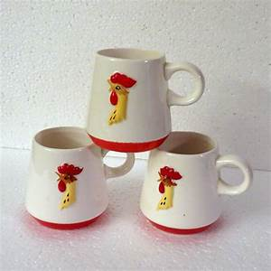 Holt Howard Red Rooster Coq Rouge Coffee Cups from ...