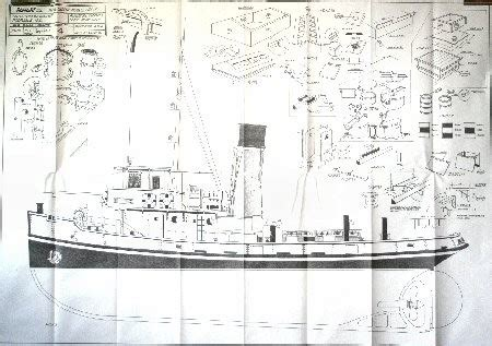 anteo tug boat mantua ship plans modelers central