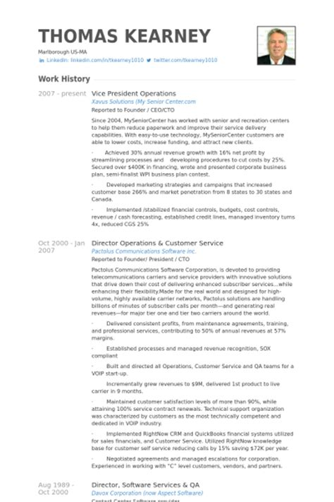 vice president operations resume sles visualcv resume