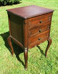 vintage end table Antique French Massive Oak Side Cabinet End Table Nightstand 3 Drawers 19th C | eBay
