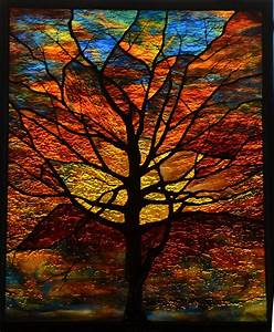 Wayne Cain » Winter Tree – Sculpted Stained Glass
