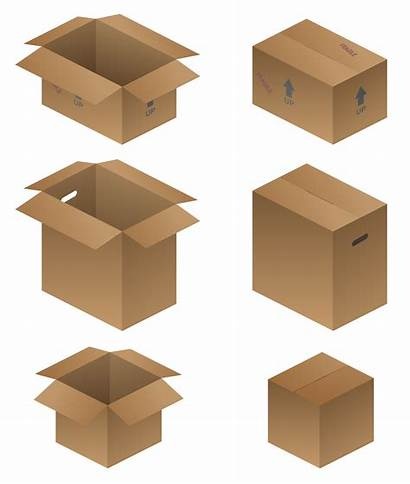 Boxes Moving Shipping Vector Packing Illustration Clipart