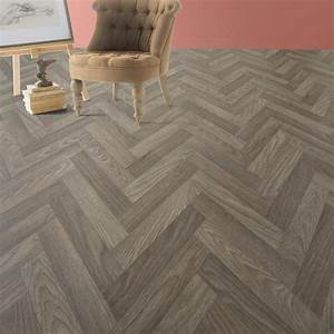 sol pvc marron chevrons artens reflex l4 m leroy merlin With lino imitation parquet chevron