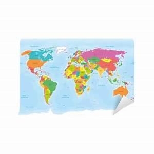 Papier Peint Planisphère : papier peint planisph re mappemonde textes en fran ais vectoris s pixers nous vivons pour ~ Teatrodelosmanantiales.com Idées de Décoration