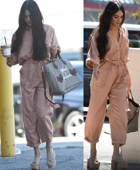 Vanessa Hudgens Takes Designer Shoe Collection Out for Stroll