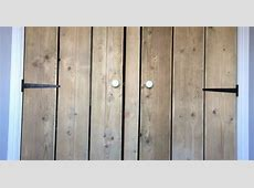 Reclaim scaffold boards used for wardrobe doors Wardrobe