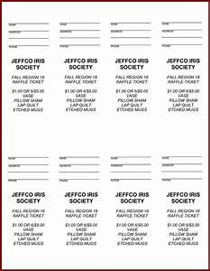 free printable raffle tickets with stubs website resume With sample of raffle tickets templates