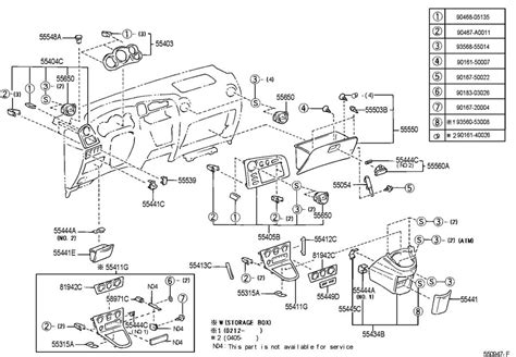 Toyota Matrix Parts by 2003 08 Toyota Matrix Instrument Cluster Bezel New Oem