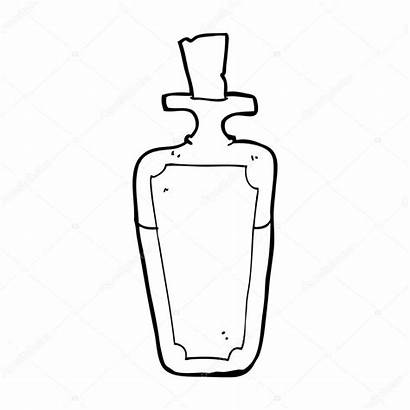 Potion Bottle Cartoon Vector Illustration Depositphotos Lineartestpilot