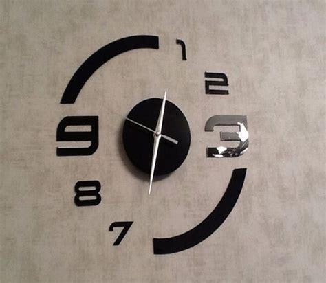 horloge moderne cuisine diy horloge mural home décor design moderne miroir