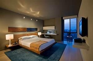 Lampe Bett Kopfteil : das schlafzimmer minimalistisch einrichten 50 ~ Lateststills.com Haus und Dekorationen
