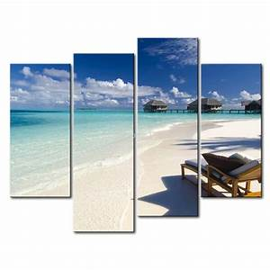 Wall art design ideas maldives clouds piece beach