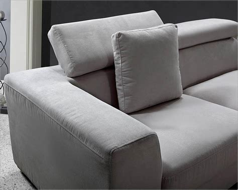 Contemporary Microfiber Sectional Sofa by Grey Microfiber Contemporary Sectional Sofa Set 44l0615