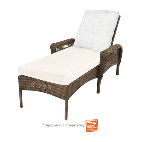 chaise solde hton bay grey wicker patio chaise lounge