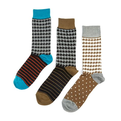 set of 3 assorted color fine cotton mens monogrammed mr tobias sock assorted set of 3 sock it up