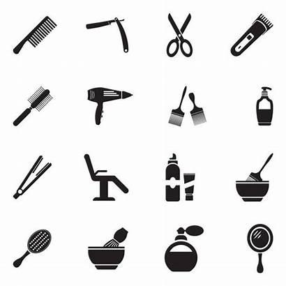Salon Hair Vector Icons Illustration Tools Flat