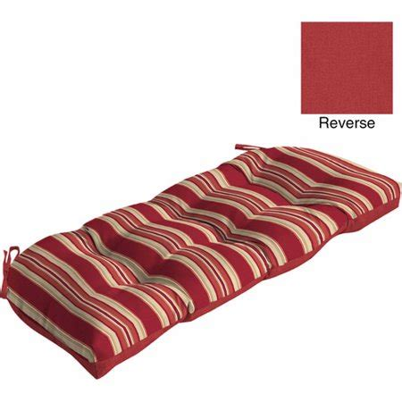Outdoor Wicker Settee by Mainstays Outdoor Wicker Settee Cushion Stripe