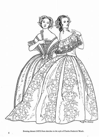 Coloring War Civil Books Dresses Fashions Sketches
