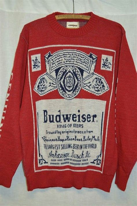 budweiser sweater big vintage budweiser sweater clothes style