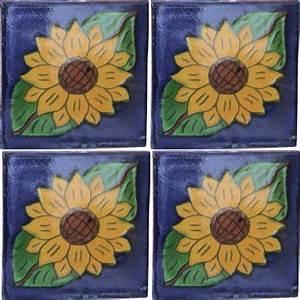 Sunflower II Talavera Mexican Tile