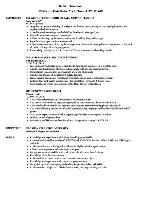 Undergraduate Resume Objective by Hr Student Resume Sles Velvet