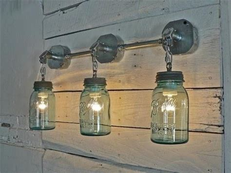 canning jar light fixtures country lighting