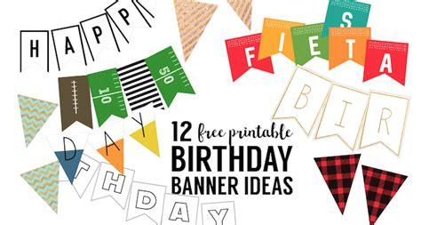 printable birthday banner ideas paper trail design