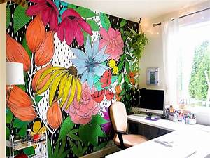 The, Flower, Wall, Mural