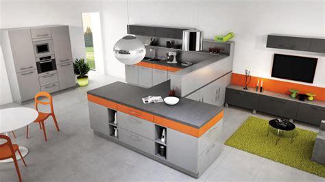 cuisine en orange davaus cuisine moderne noir et orange avec des