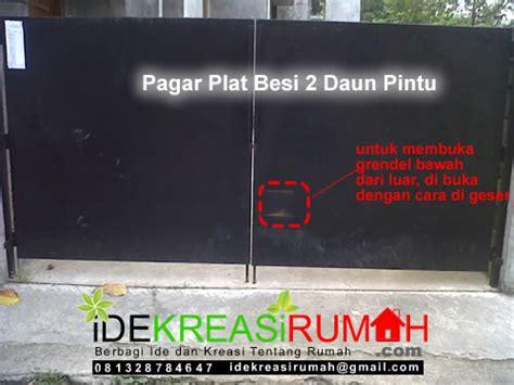 ide desain pagar pintu plat minimalis ide kreasi rumah