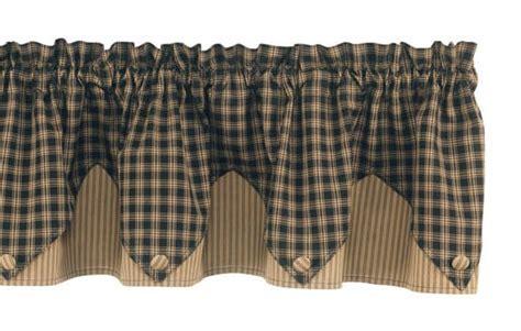 Black Sturbridge Lined Point Curtain Valance