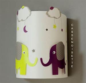 Applique Murale Chambre Enfant : applique chambre bb elephant vert et bordeaux fabrique casse noisette ~ Teatrodelosmanantiales.com Idées de Décoration