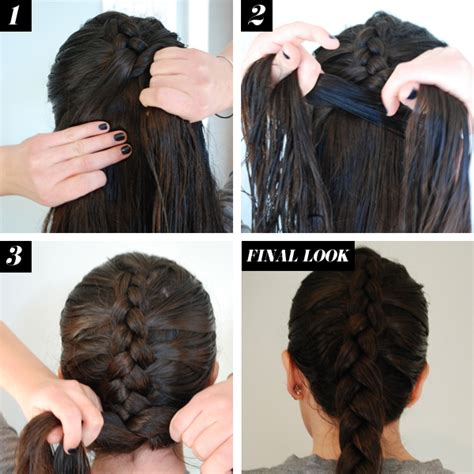 reverse french braid hair   braid tutorials