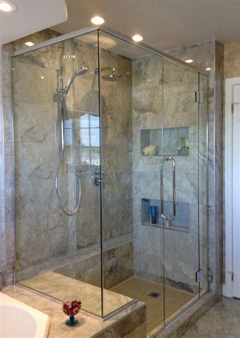 renovation de salle de bain douche en verre  en